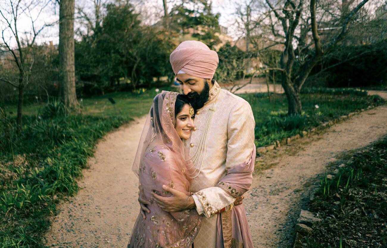 Indian couple at Duke Gardens